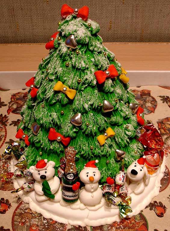 13 янв 2013 торт новогодняя елочка