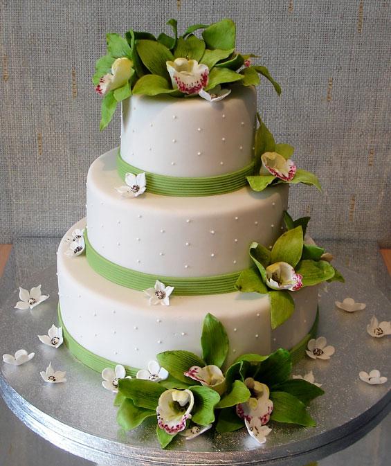 Свадебный торт свадебные орхидеи
